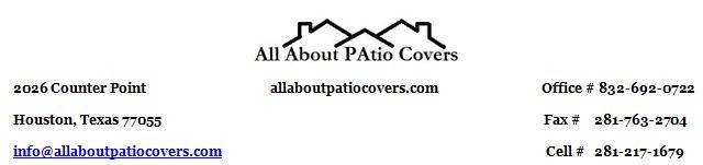 Custom Patio Covers Houston, TX. Specializing in patio covers, pergolas, sunrooms, outdoor living, custom patio design, Concrete, outdoor kitchens, screened porches. Built to match your home. Patio Cover Ideas, Pictures, Videos, Electrical, Custom Patio Cover Pictures, Free Estimates 832-692-0722